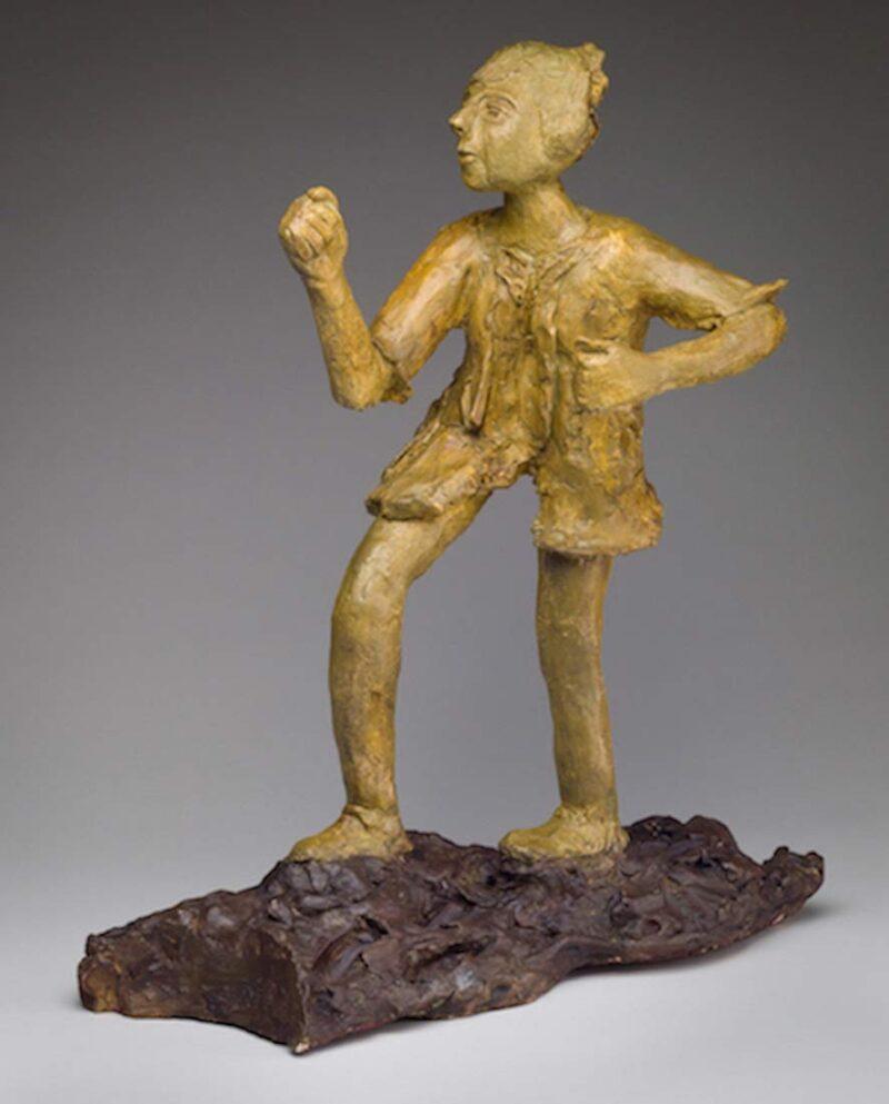 Ellen Coffey unique fired clay sculpture 'Seeker'