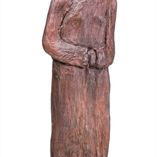 Ellen Coffey unique fired clay sculpture 'Teacher'