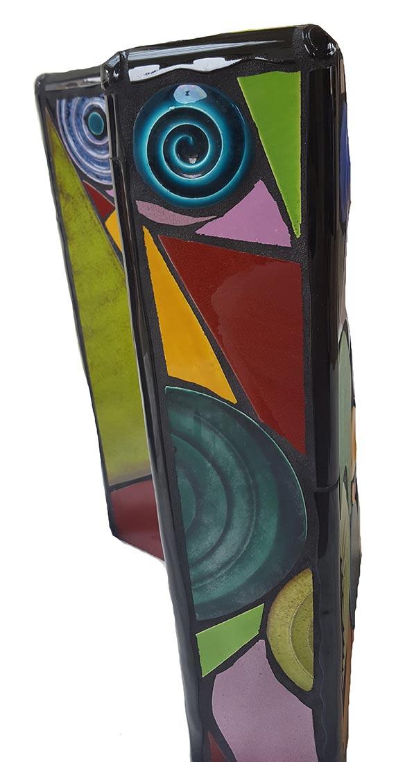 Mario Bartels sculptural pedestal tables