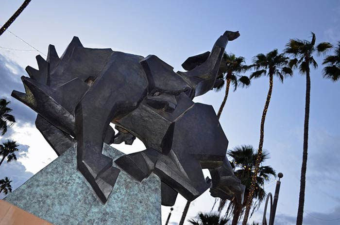 Jack Knife a bronze sculpture monument by Ed Mell Scottsdale Arizona