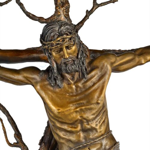 Christ of the Holy Cross a bronze sculpture by James Muir
