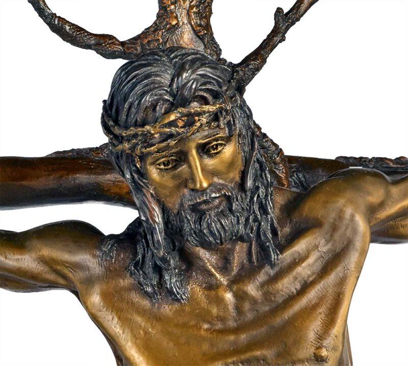 Christ of the Holy Cross a bronze sculpture by James Muir
