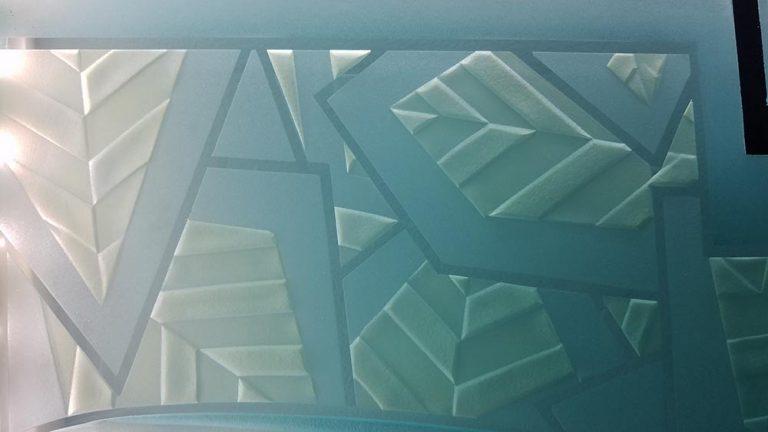 Art Deco Glass floor standing sculpture by Frank Hill