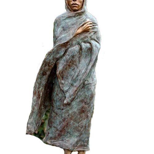 Marie Barbera Native American bronze sculpture Cold Feet