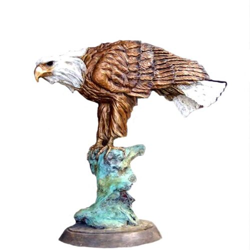 Spirit of America a bronze sculpture of an eagle by Marie Barbera