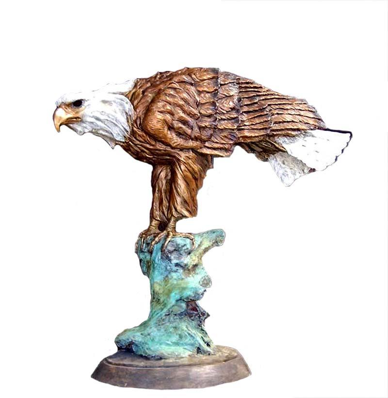 Spirit of America a bronze sculpture of an eagle by Marie Barbera