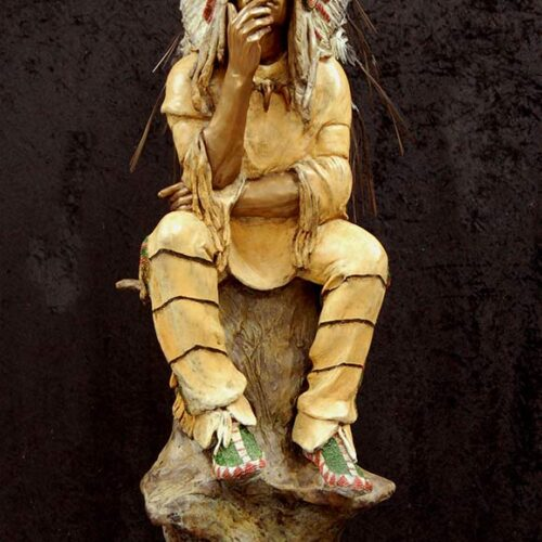 The Elder by Marie Barbera a Native American bronze sculpture