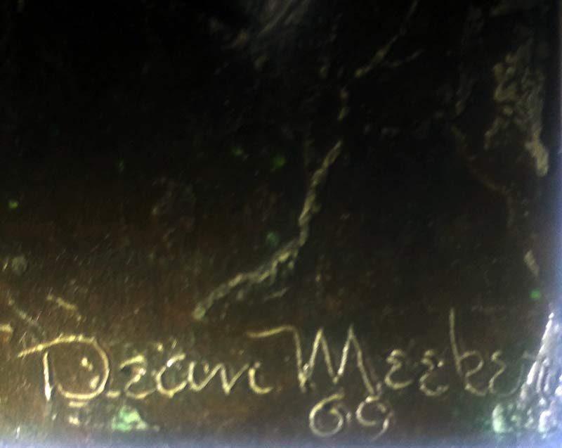 Dean Meeker, 'Le Vitrier' limited edition bronze sculpture - signature