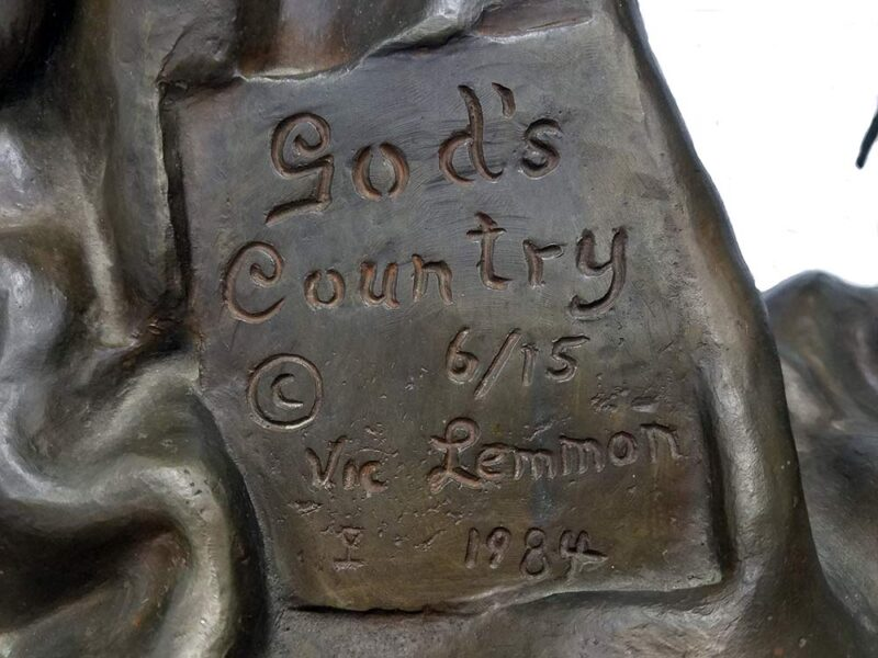 God's Country a bronze sculpture by Vic Lemmon