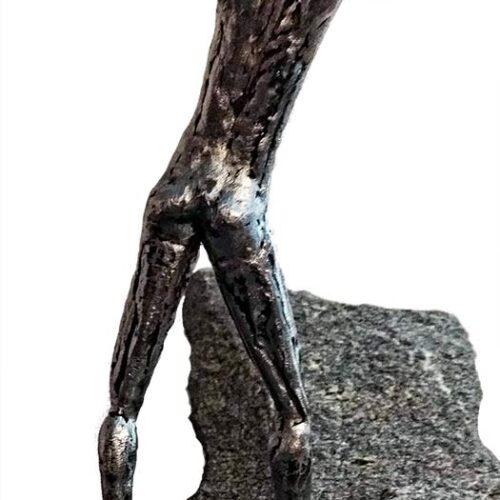 Fiddler a unique welded steel sculpture by Knut Kvannli