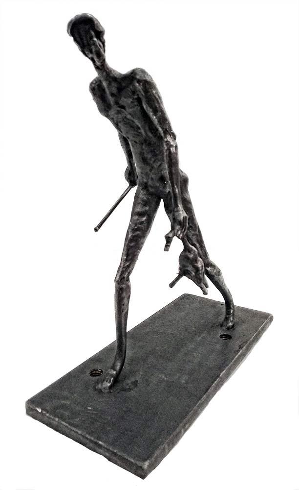 Hunter - a unique welded steel sculpture by Norwegian artist Knut Kvannli