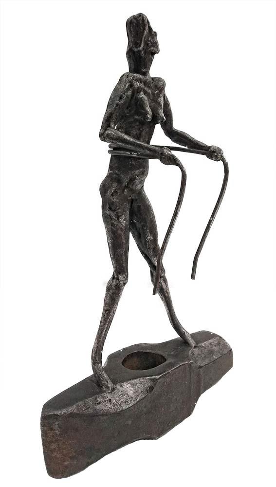 Life - a unique welded steel sculpture by Norwegian artist Knut Kvannli