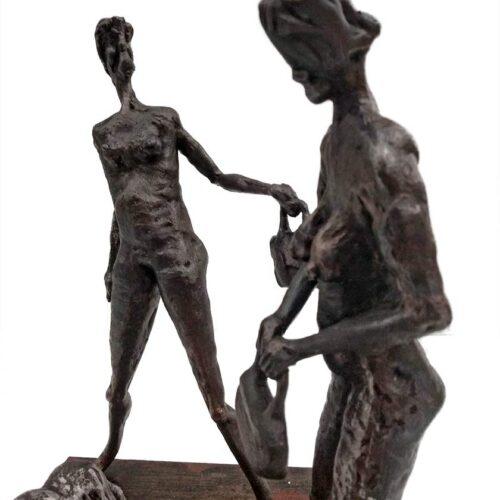 Make a Choice – a unique welded steel sculpture by Norwegian artist Knut Kvannli