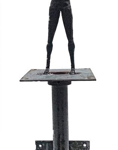 Power – a unique welded steel sculpture meanty for the wall by Norwegian artist Knut Kvannli