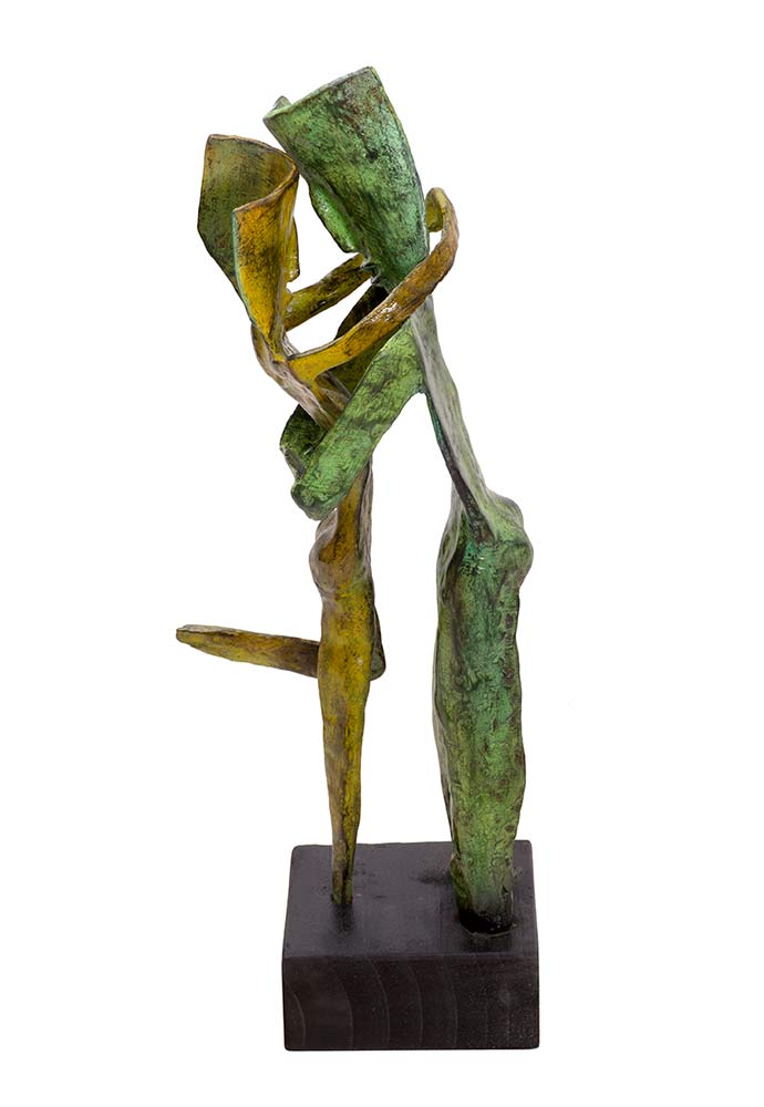Aesthisis - greenish color a bronze limited edition sculpture by Nikolas