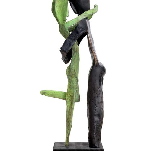 Aesthisis - black man bronze limited edition sculpture by Nikolas