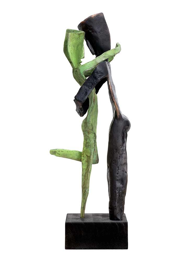 Aesthisis - black man bronze limited edition sculpture by Nikolas