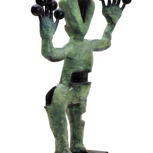 Exoplanets bronze sculpture by Nikolas