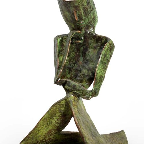 'Skepsis' a bronze limited edition sculpture by Nikolas