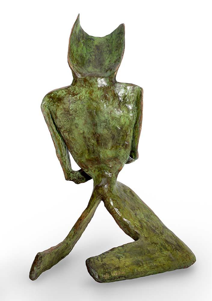 'Skepsis' a bronze limited edition sculpture by Nikolas