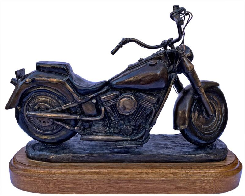Harley Davidson motorcycle bronze sculpture Iron Horse by Bob Parks