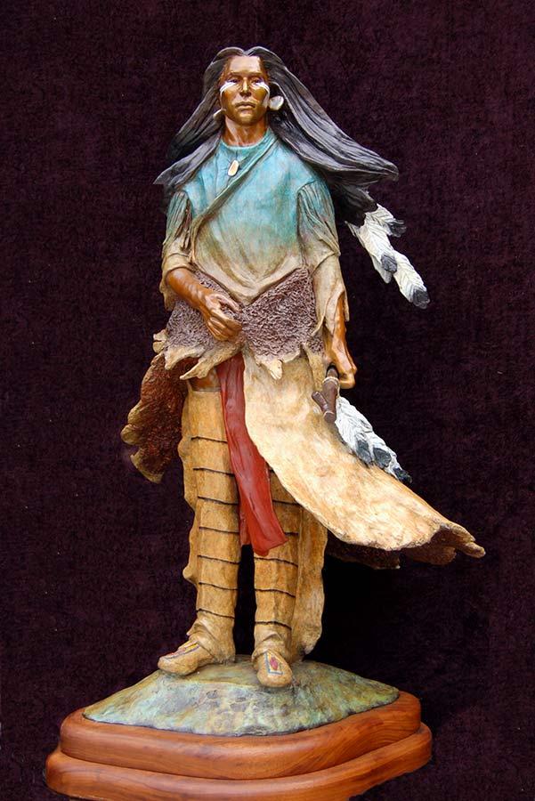 Crazy Horse - a Native American bronze sculpture by Marie Barbera