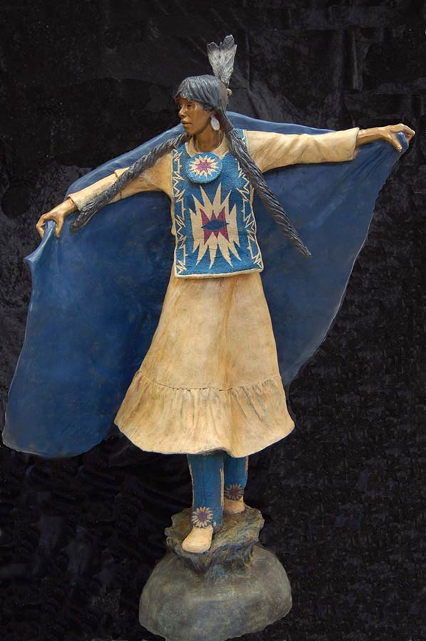 Dance of the Morning Star a Native American bronze sculpture by Marie Barbera
