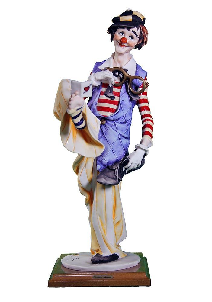 The Clown a porcelain sculpture by Giuseppe Armani for Disney