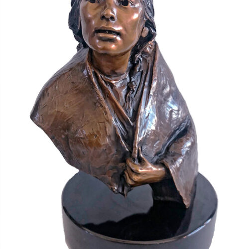 Shoshone Mother (study) a limited edition bronze sculpture by Glenna Goodacre
