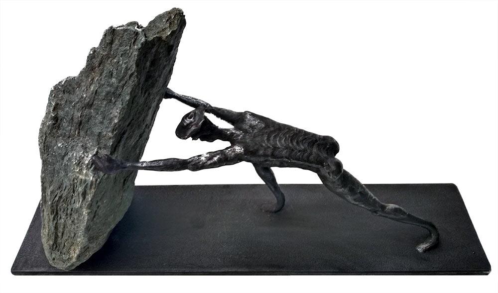 Knut Kvannli formed iron sculpture Will
