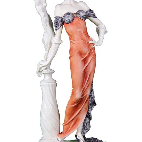 Lady With Sculpture in porcelain by Giuseppe Armani