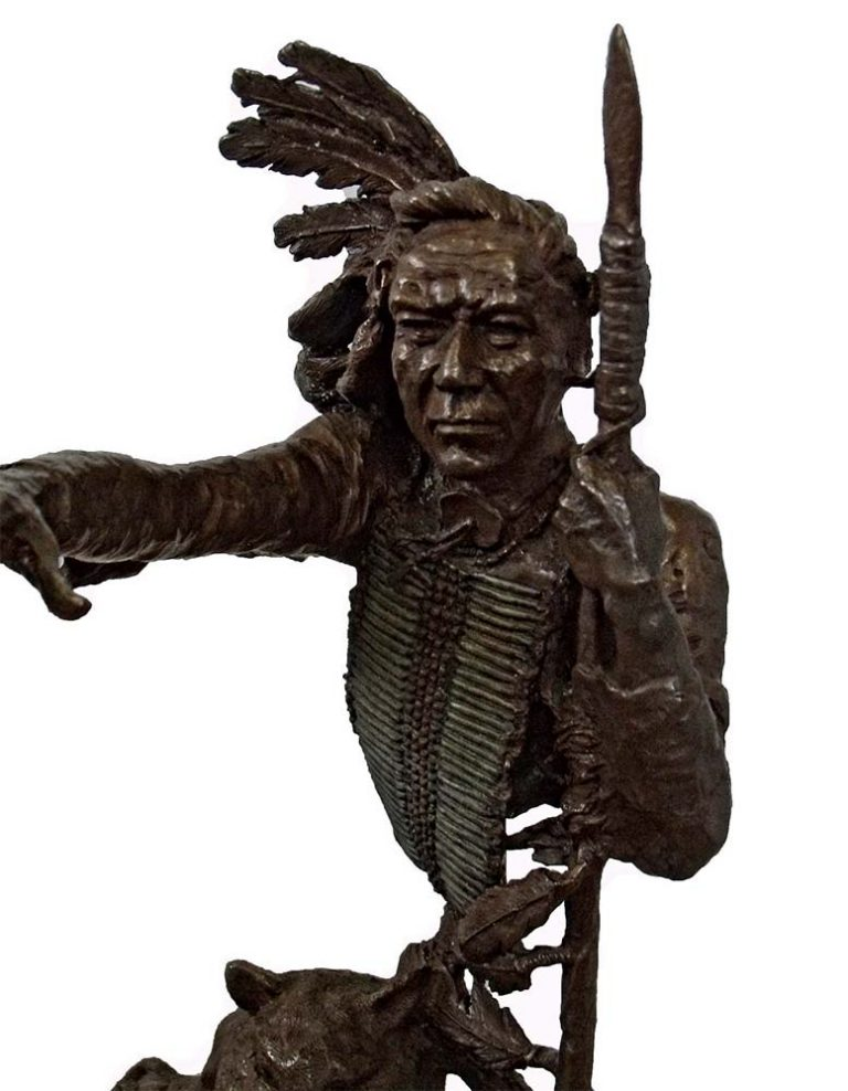 Iron Road a Native American bronze sculpture by Mark Hopkins