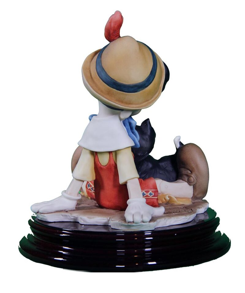 Pinocchio and Figaro sculpture in porcelain for Disney by Giuseppe Armani