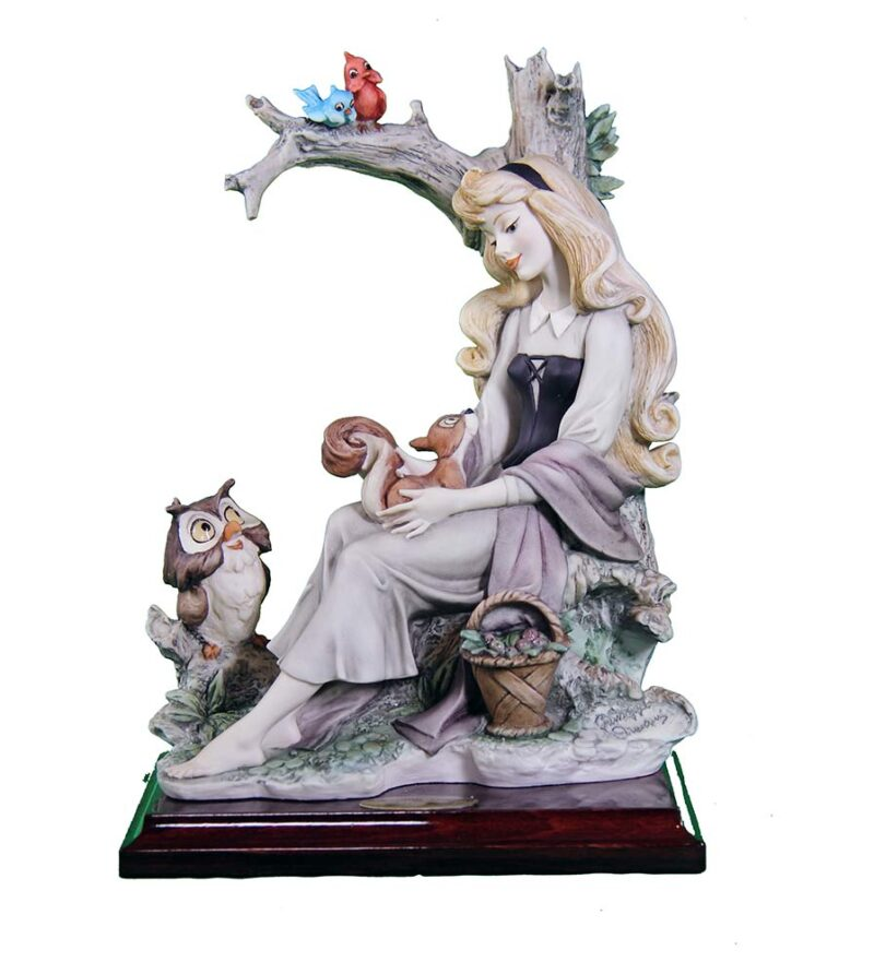 Sleeping Beauty sculpture in porcelain for Disney by Giuseppe Armani