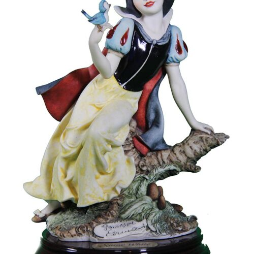 Snow White sculpture in porcelain for Disney by Giuseppe Armani
