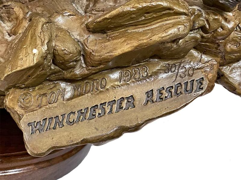 Winchester Rescue a limited edition bronze sculpture by Tom Moro