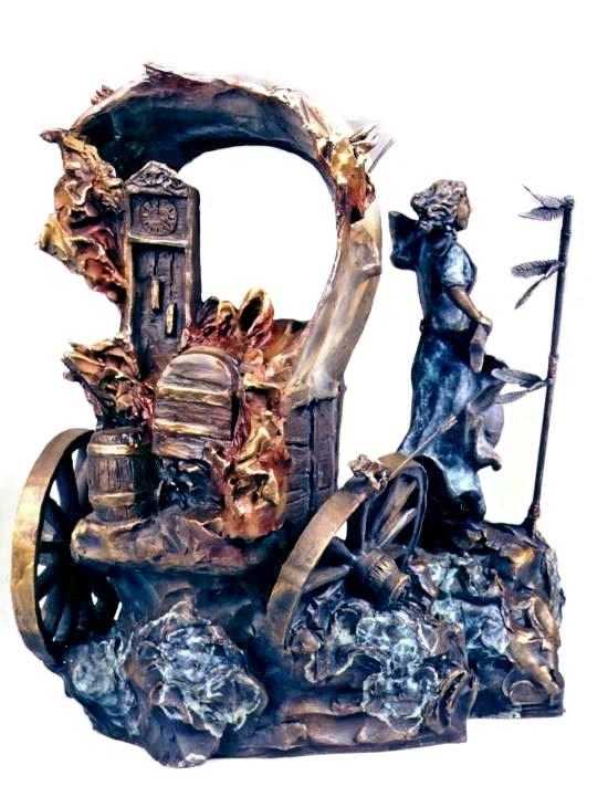 Savage Land a bronze sculpture by Julie Ellis