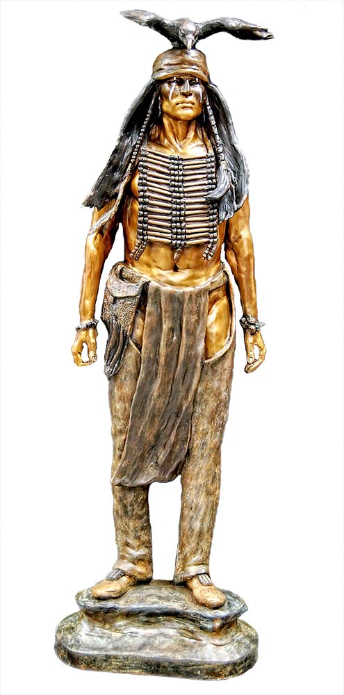 Tonto a limited edition bronze Native American sculpture from the Lone Ranger TV series by Marie Barbera