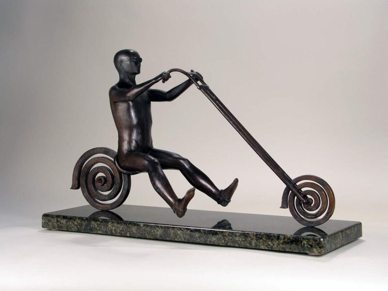Endless Highway a limited edition bronze sculpture by Robert E. Gigliotti