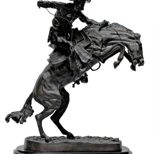 Famous Remington bronze sculpture Bronco Buster