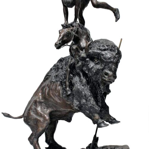 Famous Remington bronze sculpture Buffalo Horse