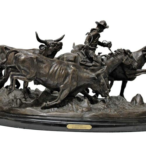 Remington bronze sculpture re-strike The Stampede
