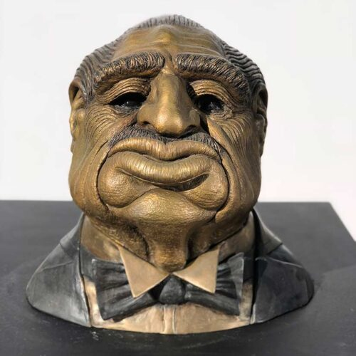 A Limited Edition Bronze Sculpture titled Don Corleone (The Godfather) by Chris Towle