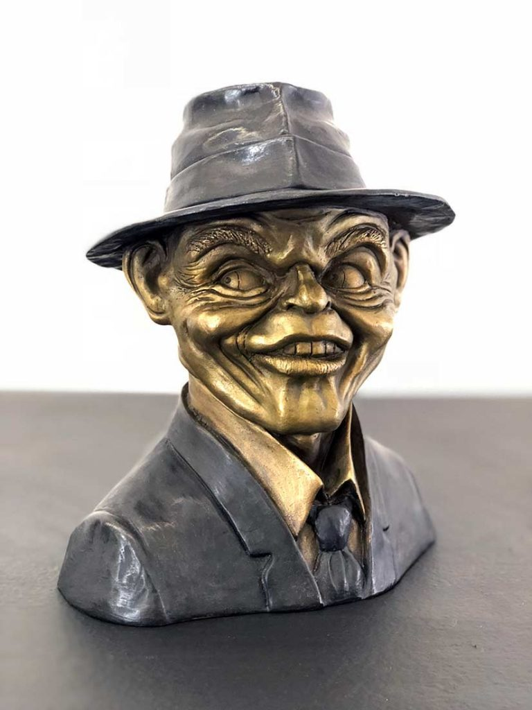 A Limited Edition Bronze Sculpture titled Frank of Frank Sinatra by Chris Towle