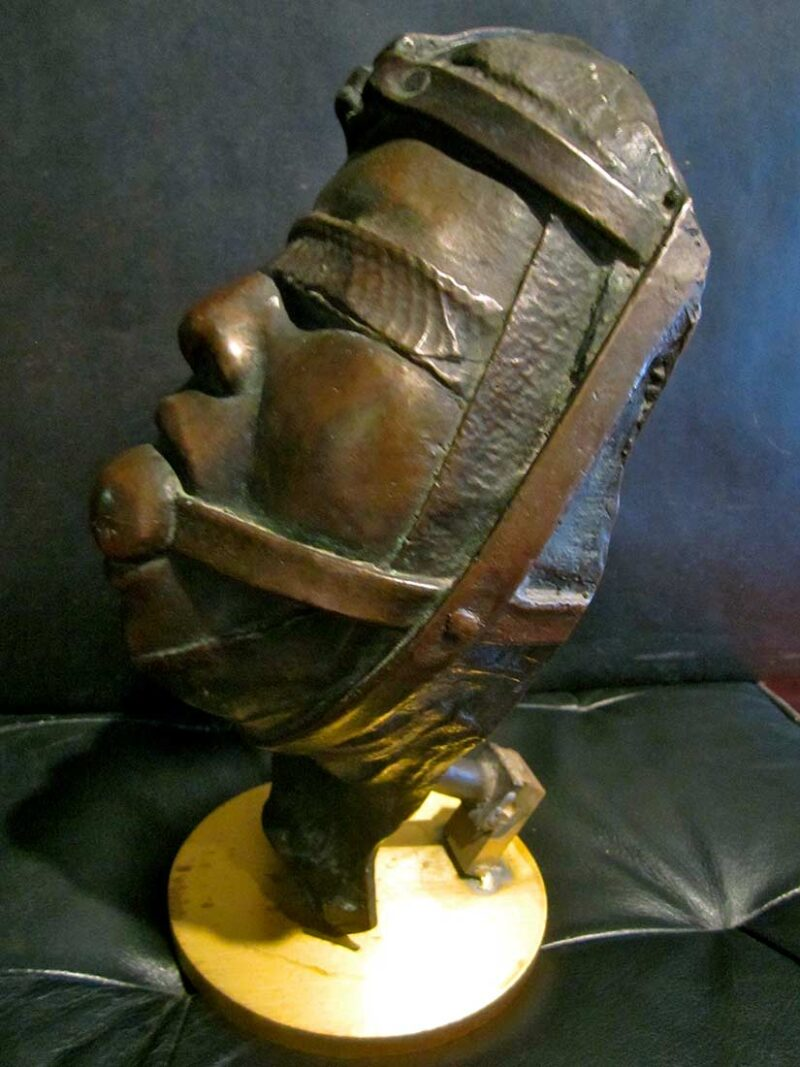 A Bronze Sculpture titled Head Bust by John Battenberg