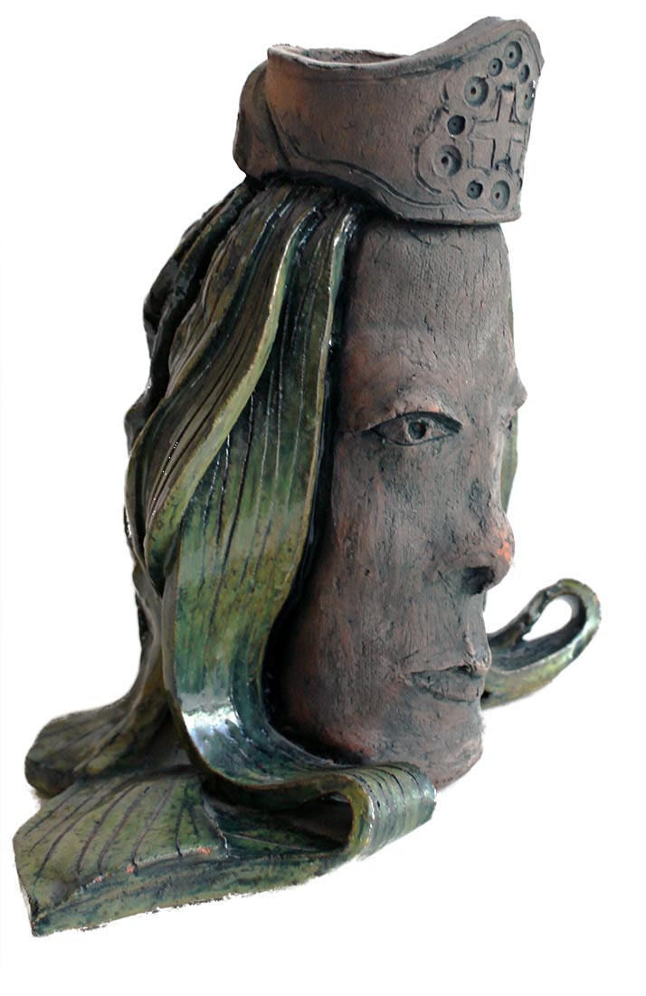A Porcelain-Stoneware titled Queen by Peter Daniels