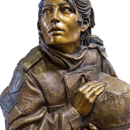 Athena's Prayer a life-size bronze sculpture by James Muir
