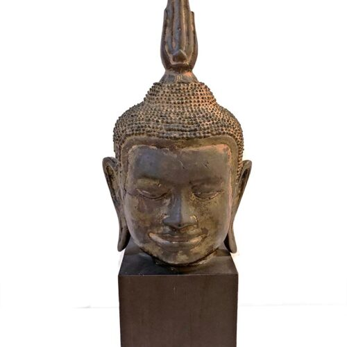 A Bronze Budda Sculpture circa 14th century by Boisselier's Group B