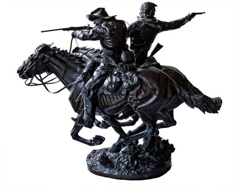 June 25, 1876, Bronze Sculpture by James Muir