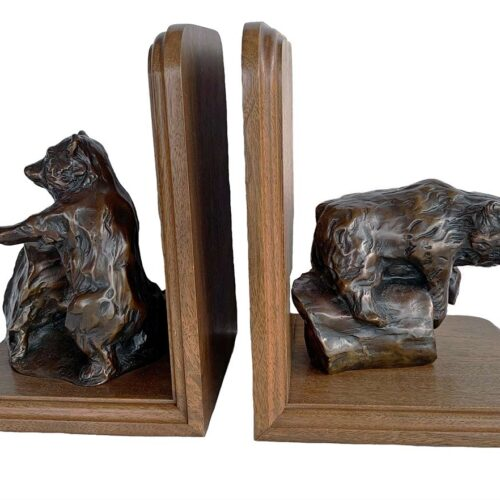 Bronze Bear Bookends by Bobbie Carlyle